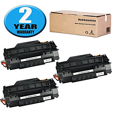 Compatible Q5949A (49A) Toner Cartridge 3 Pack Black by Hobbyunion for LaserJet 1320 1320N 1320NW 1320T 1320TN 1160 1160 1160LE 3390 - P2015x Laser Printer