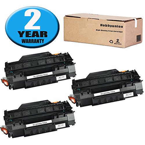 (Compatible Q5949A (49A) Toner Cartridge 3 Pack Black by Hobbyunion for LaserJet 1320 1320N 1320NW 1320T 1320TN 1160 1160 1160LE 3390 3392)