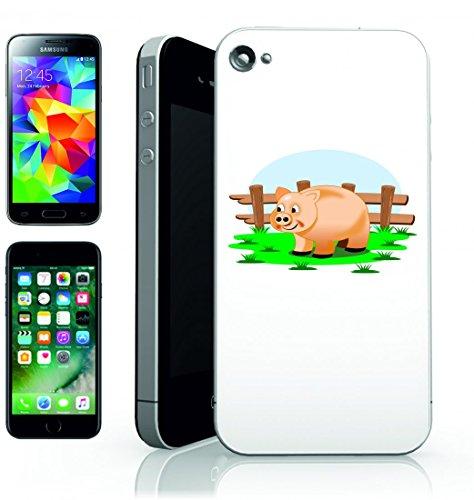 Smartphone Case Fattoria di maialino di campo della Creazione di animali mediante la paesaggio rurale roça di Green per Apple Iphone 4/4S, 5/5S, 5C, 6/6S, 7& Samsung Galaxy S4, S5, S6, S6Edge, S7