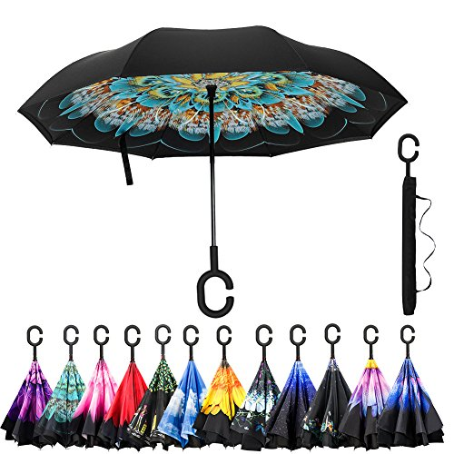 Amagoing Inverted Umbrella Windproof Reverse product image