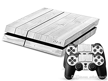 Video Games & Consoles Ps4 Slim Sticker Console Decal Playstation 4 Controller Vinyl Skin White Faceplates, Decals & Stickers