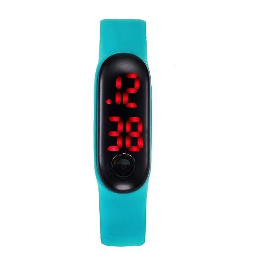 Pulsera Deportivos BBestseller Pulsera Inteligente Impermeable Reloj electronico Relojes Hombre Digitales Podómetro Smartwatches (Verde)