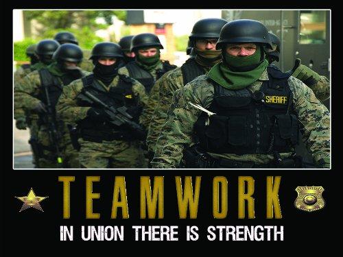 Police Officer Poster Teamwork Motivation Training