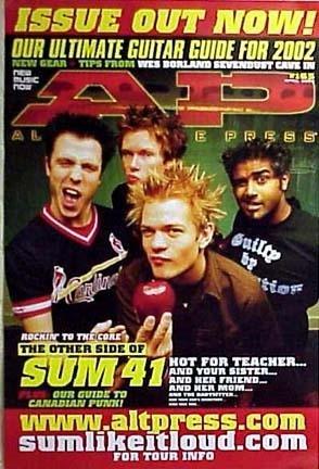 SUM 41 - AP MAGAZINE COVER 24x36 POSTER