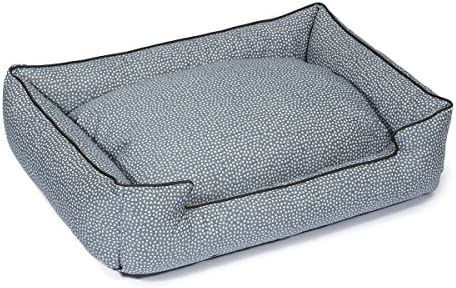 Jax and Bones 24 x 18 x 7 Premium Cotton Blend Lounge Dog Bed, Small, Flicker Cornflower