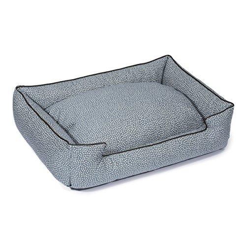 Cheap Jax and Bones 32 x 27 x 10 Premium Cotton Blend Lounge Dog Bed, Medium, Flicker Cornflower