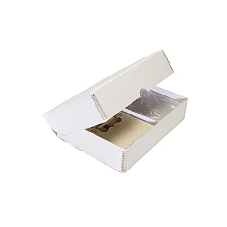 Amazon lineco storage box for greeting cards 9 x 12 x 13 lineco storage box for greeting cards 9 x 12 x 13 inches pure white m4hsunfo