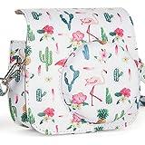CAIUL Compatible Mini 9 Groovy Camera Case Bag for Fujifilm Instax Mini 8 8+ 9 Camera - Flamingo & Cactus