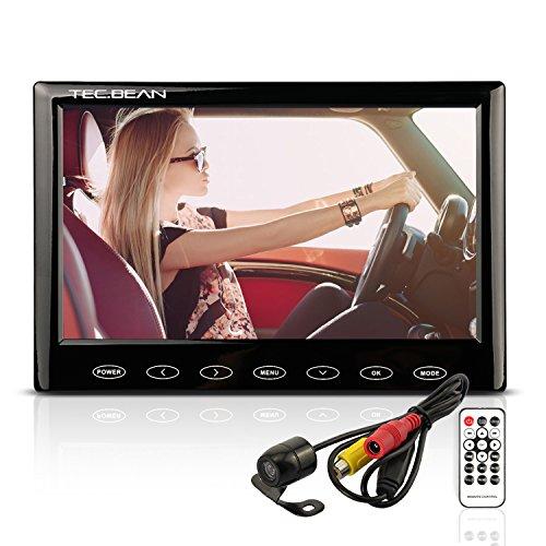 7 Zoll HD LCD Auto Rückfahrkamera & Monitor mit MP5 Funktion Touchdisplay Wasserdicht Nachtsichtsystem Rückfahrkamera Entfernungsmessung Einparkhilfe Unterstützt 32GB TF Speicherchips (nicht enthalten)