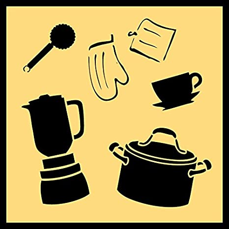 Piece Kit More! STENCIL-COOKINGSET01-10 Detailed Cooking /& Kitchen Utensils Stencil Set 10-by-10-inch Sheet - Featuring Pots A Blender Measuring Cups Pair of Sheets Auto Vynamics 2
