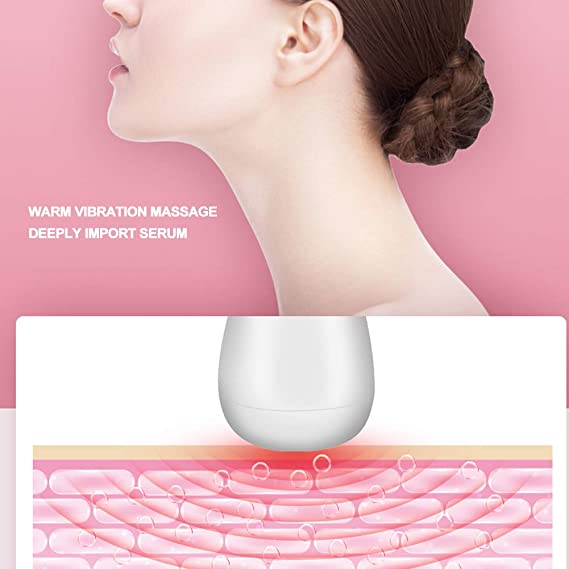 Masajeador facial portátil, EMS Micro-Current Serum ...