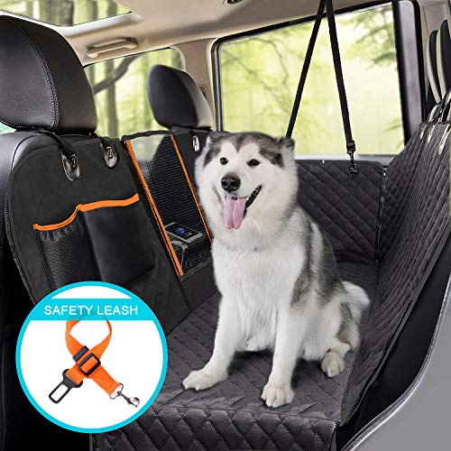 Hachi's Choice Dog Car Seat Covers - 100% Waterproof Back Seat Cover for Dogs with Mesh Window,Nonslip Cargo Liner,Scratch Proof Dog Car Hammock for Cars Trucks SUV (Regular, Black)