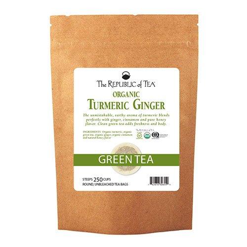 The Republic Of Tea Organic Turmeric Ginger Green Tea, 250 Tea Bags, Gourmet Green Tea And Turmeric Tea by The Republic of Tea (Image #3)