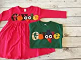 Matching Thanksgiving Outfits for Children, Gobble Shirt and Gobble Dress for Brother and Sister, Thanksgiving Clothing Children