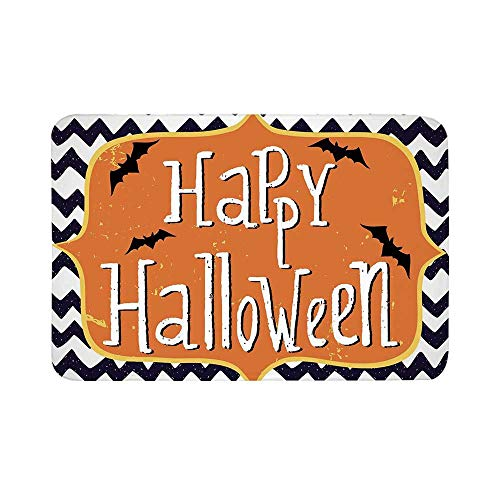 C COABALLA Halloween Durable Door Mat,Cute Halloween Greeting