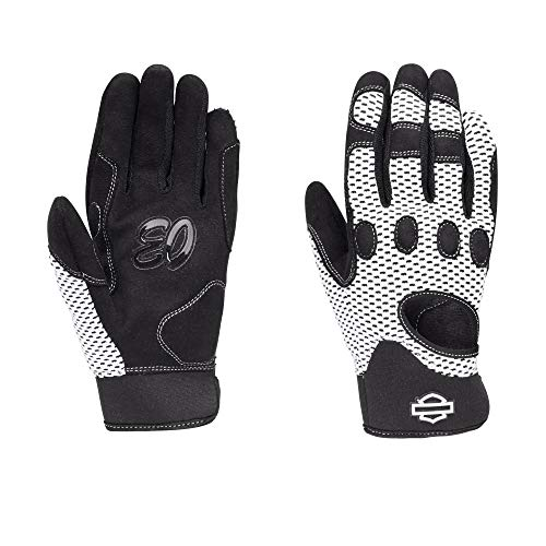 Official Harley-Davidson Women's Reveaux Mesh Gloves Powered by Coolcore Technology, Black (Small)