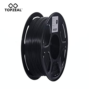 TOPZEAL Impresora 3D Filamento Negro PLA 1.75mm Filamento ...