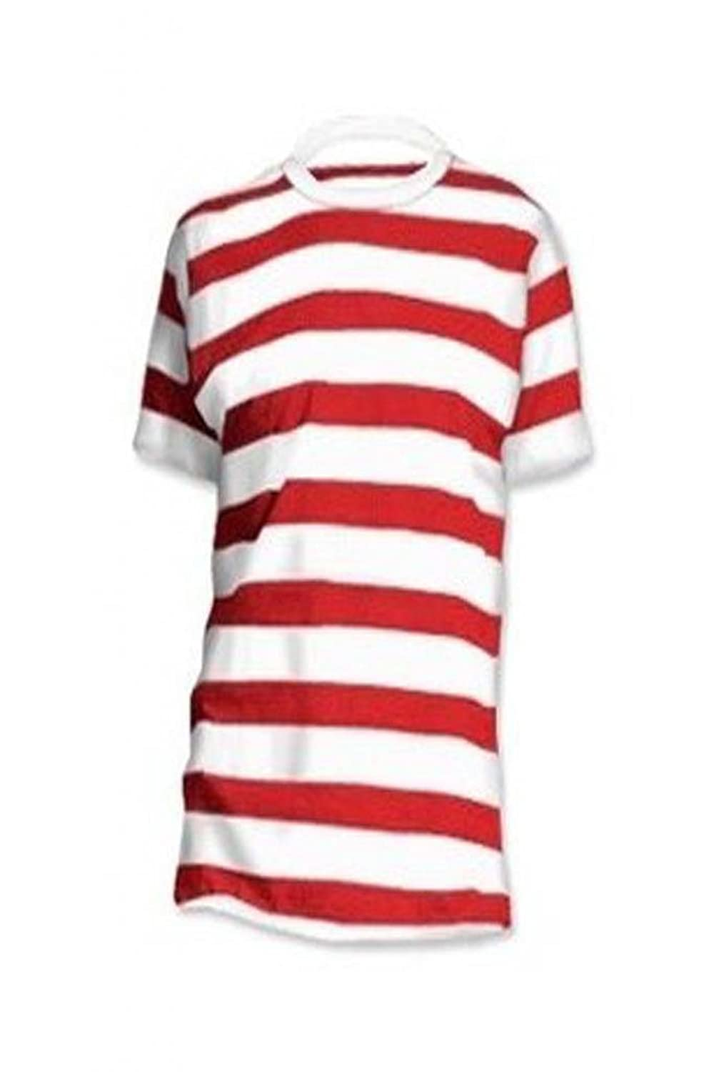 Momo Fashions Men's Red White Wally Short Sleeve T-Shirt White Red ...
