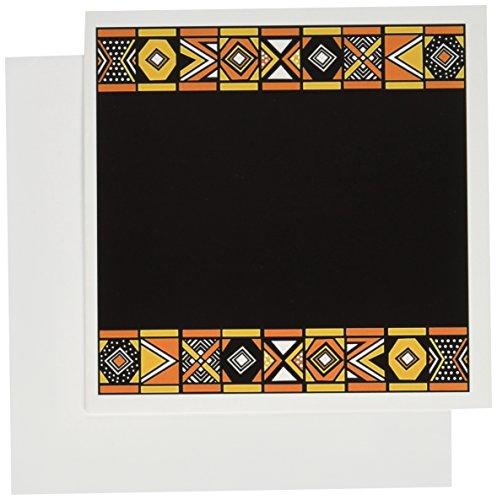 3dRose patrón–arte tradicional africano de África inspirado en Zulu Beadwork geométrico diseños–tarjetas de...