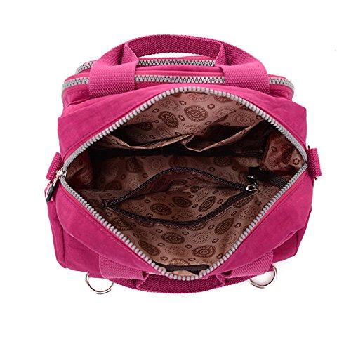 asa de agua bolso resistente morado superior nylon al Mochila de Niñas mano Crossbody tianhengyi multifunción bolso bolso de qzYIS