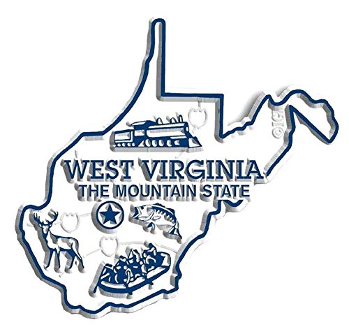 West Virginia State Map Fridge Magnet (State Fridge Magnets)