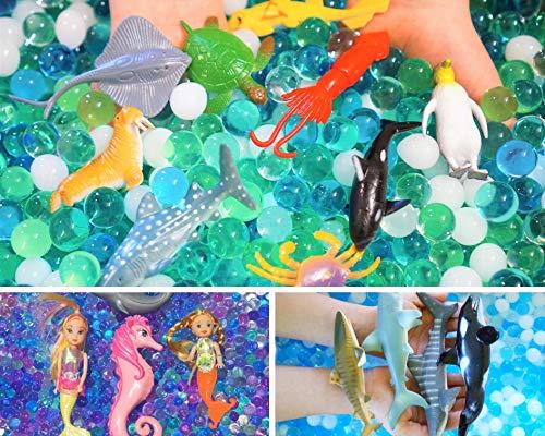 SENSORY4U Ocean Water Beads Sensory Bin Therapy Kits - 3 Dew Drop Sets Included - Ocean Explorers, Mermaid Lagoon and Swimming with Sharks.