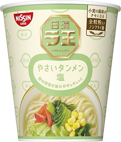 닛신 NISSIN 컵라면 닛신 라왕 라오 세로 컵 야채탕면 국수 소금 61g×12개
