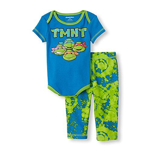 Teenage Mutant Ninja Turtles TMNT Baby 2-Piece Bodysuit & Pants Set (6/9 Months) ()