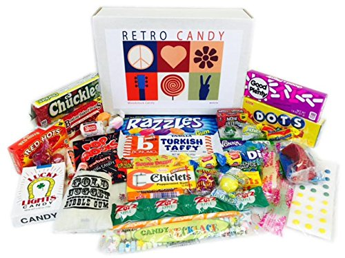 Retro Candy Gift Basket Box