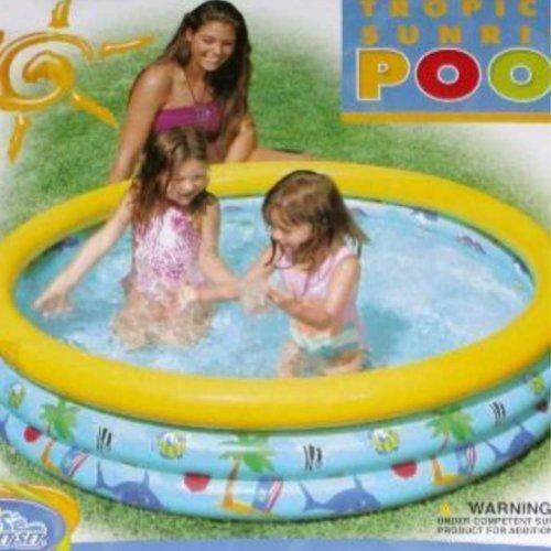 Inflatable Kids Tropical Sunrise Swimming Splash -