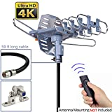 pingbingding HDTV Antenna Outdoor Antenna Digital Antenna 150 Mile Motorized 360 Degree Rotation