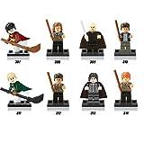 8pcs HARRI POTTER Movie Dumbledore Professor Snap Ron Weasley Hogwarts Expres