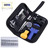 390PCS Watch Repair Tool Kits, Multi Various Watchband Link Pins, Professional Watch Back Cover Opener Link Remover Pry Opener Spring Bar Pin Punches Screwdrivers Set for Watch Repairman