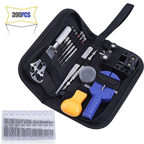 390PCS Watch Repair Tool Kits, Multi Various Watchband Link