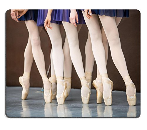 Ballet Costume Design School (Luxlady Mousepad Five ballet dancers in dance class near the barre Legs only Soft focus IMAGE 37161041)