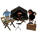Dr. Jane Goodall Inspired Gombe Research Camp Doll Clothes, Chimpanzee Research Tent & Accessories + Chimp For 18 Inch Dolls. 17 Piece Set Includes Tent, Cot, Table & Chair, Outfit & Research Tools