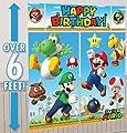 Super Mario Brothers Scene Setter Happy Birthday Banner Party Supplies Nintendo