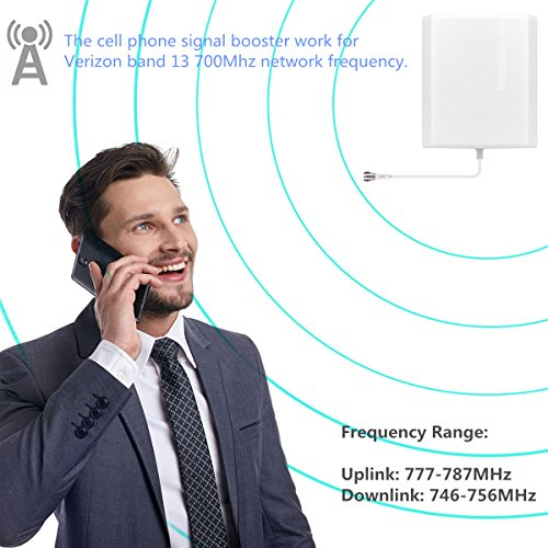 Verizon Cell Phone Signal Booster 4G Lte Cell Booster HJCINTL 700MHz Band 13 Home Mobile Phone Signal Repeater Amplifier Kit Cover- 1500sq ft by HJCINTL (Image #1)