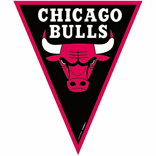Chicago Bulls NBA Collection Pennant Banner, Party Decoration