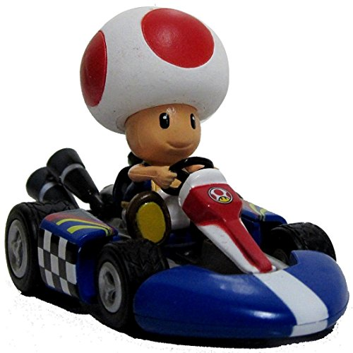 "Nintendo Mario Kart Wii Pull-Back Car Version 2 Mini Figure - 3"" Toad (Japanese Import)"