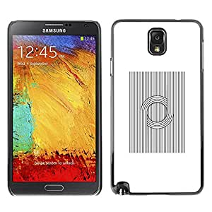 LECELL--Funda protectora / Cubierta / Piel For Samsung Galaxy Note 3 N9000 N9002 N9005 -- Viking Pattern Nordic Black White --