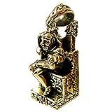 Bronze Seated Norse God Loki Pendant