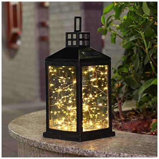 Garden and Outdoor Solar Lantern Lights Outdoor SUNWIND Waterproof Solar Table Lamp Hanging Lighting with 30 Warm White LEDs for Garden… outdoor lighting
