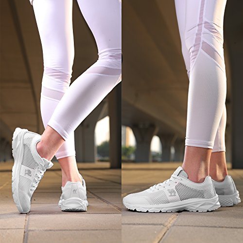 Donna Casual Running Sportive Sneakers Camel Ginnastica Bianca Da All'aperto Interior Fitness Basse Scarpe Corsa adWSfwq