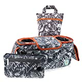 Baby Stroller Caddy with Cup Holders - Universal Organizer Bag for All Strollers | Removable Large Wallet for Phone & Valuables | Insulated Secure Fit Drink Holders | The Perfect Stroller Accessory