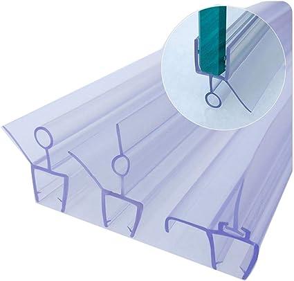 Queenbox 2 Pack 70cm Baño Ducha Mampara de la puerta Sello de la ducha para vidrio Espesor 4-6 mm, Ala 16 mm, Barrera de agua con abertura recta curva: Amazon.es: Bricolaje y herramientas