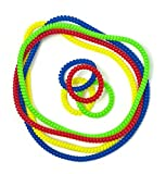 Product review for Chewable Jewelry Necklace Bracelet Big Coil Combo - Fun Sensory Motor Aid - Speech And Communication Aid - Great For Autism And Sensory-Focused Kids - 8 Units 4 Color Sets