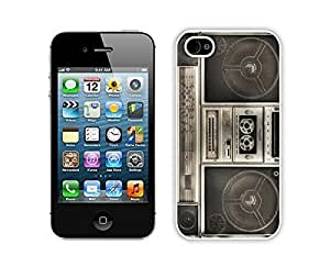 Nice Apple Iphone 4s Case Durable Soft Silicone TPU Classical Boombox Diy White Mobile Phone Case Cover for Iphone 4 Kimberly Kurzendoerfer
