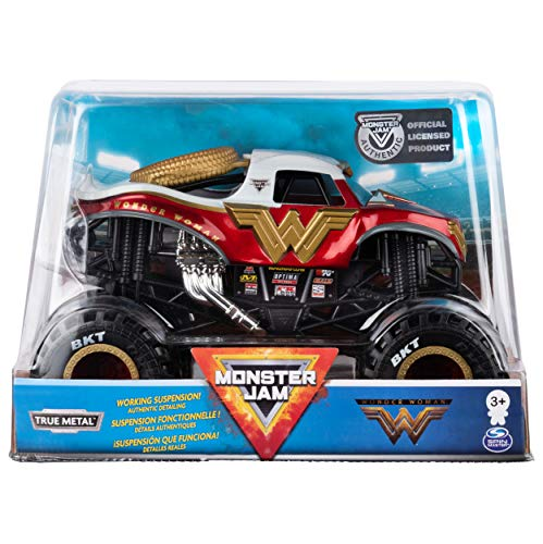 24 Scale Replica Truck - Monster Jam Official Wonder Woman Monster Truck Die-Cast Vehicle, 1:24 Scale
