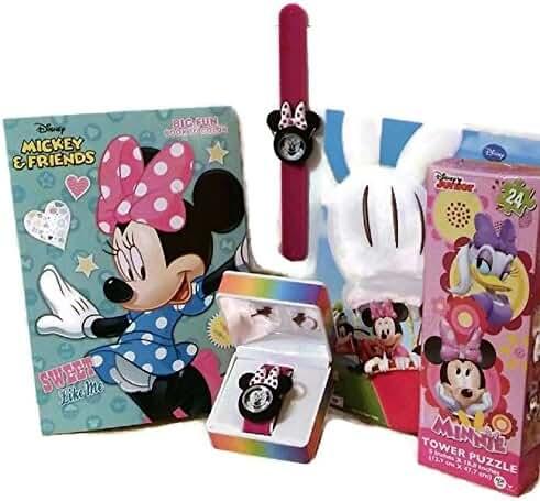 4 Pc Bundle, Minnie Mouse Watch, Coloring Books (2), Puzzle